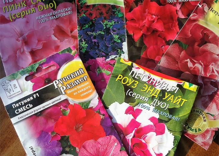 различные пакеты с семенами